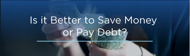 save money or pay school debt image